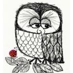 Аватар Грустная сова смотрит в сторону