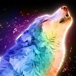 Аватар Воющий разноцветный волк