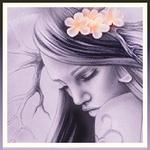 Аватар Девушка с рогами и цветами на голове