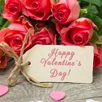 Аватар Розовые розы и бирка с надписью Happy Valentines Day