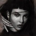Аватар Девушка с пирсингом в носу и на губе