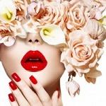 Аватар Девушка с цветами на голове и глазах