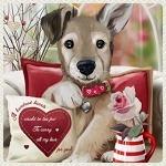 Аватар Шенок придерживает лапой поздравительный подарок с сердечком на нем, by Kajenna