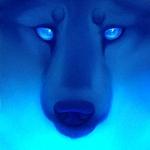 Аватар Голова волка при синем освещении, by Akalu