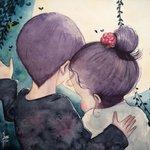 Аватар Мальчик обнимает девочку, by June Leeloo