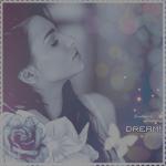 Аватар Девушка с закрытыми глазами на фоне цветов и бликов-боке (dream / мечта)