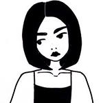 Аватар Грустная девушка смотрит в сторону