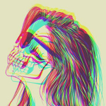 Аватар Девушка с лицом-черепом в солнечных очках