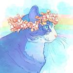 Аватар Кошка в венке