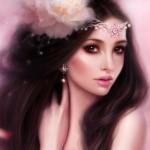 Аватар Девушка с цветком в волосах, художница Ruoxing Zhang