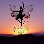 Аватар Балерина-бабочка на фоне солнца