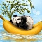 Аватар Панда спит на бананах, by Veronica Minozzi