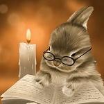Аватар Читающий книгу кролик в очках, by Veronica Minozzi
