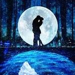 Аватар Влюбленные на фоне полной луны