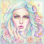 Аватар Девушка со змеей в розово-голубых волосах, by Monaparvin