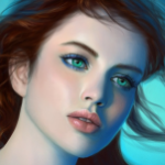 Аватар Красивая девушка с зелеными глазами