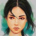 Аватар Темноволосая милая девушка