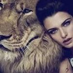 Аватар Девушка рядом со львом