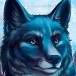 Аватар Морда голубого волка, by GoldenDruid
