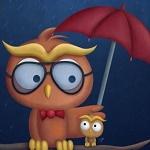 Аватар Сова и совенок сидят под зонтиком