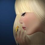 99px.ru аватар Девушка смотрит на птичку, by Kelly