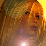 99px.ru аватар Блондинка в бликах света, by Kelly