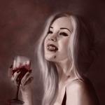 Аватар Вамиресса с бокалом крови
