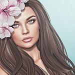 99px.ru аватар Девушка с цветами на волосах, by Strawberry Singh