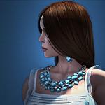 99px.ru аватар Девушка в профиль, by Strawberry Singh