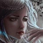 Аватар Девушка держит руку у лица, by Aoleev