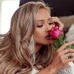 Аватар Девушка с розовой розой