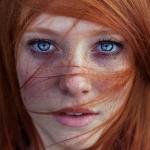 Аватар Портрет девушки с голубыми глазами и рыжими волосами, фотограф Maja Topсagiс