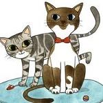 Аватар Два рисованных котенка