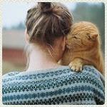 Аватар Девушка с рыжим котом, by Hanne Johansen