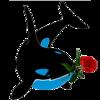 Аватар Дельфин с розой