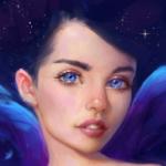 Аватар Красивая девушка с голубыми глазами, by Selenada