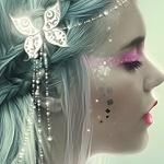 Аватар Девушка с бабочкой на волосах
