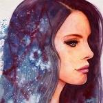 Аватар Девушка с волосами с космической туманностью, by AuroraWienhold