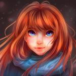Аватар Рыжеволосая девушка с голубыми глазами