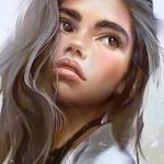 99px.ru аватар Девушка с длинными волосами, by avvart