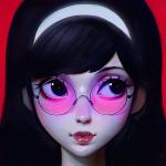 Аватар Темноволосая девушка в очках