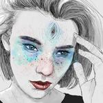 Аватар Девушка с третьим глазом во лбу