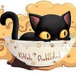 Аватар Черный котенок в чашке