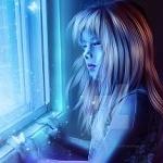 Аватар Девочка смотрит в окно