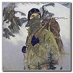 Аватар Альпинист на фоне гор