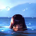 Аватар Девушка выглядывающая из воды, автор Илья Кувшинов