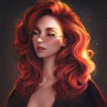 99px.ru аватар Девушка с рыжими густыми волосами в очках