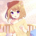 Аватар Милая девушка с ушками в кровати