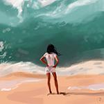 Аватар Девушка стоящая у берега, автор Julia Razumova