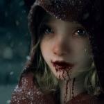 Аватар Девочка в капюшоне под падающим снегом